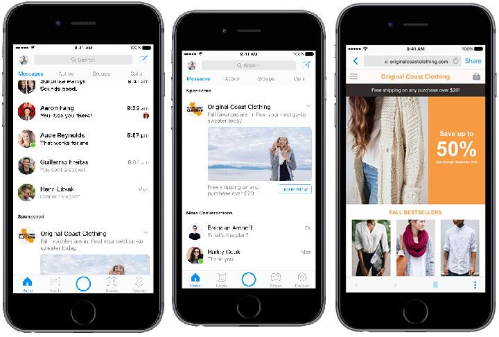 Imagen - Facebook Messenger empieza a mostrar anuncios entre tus conversaciones