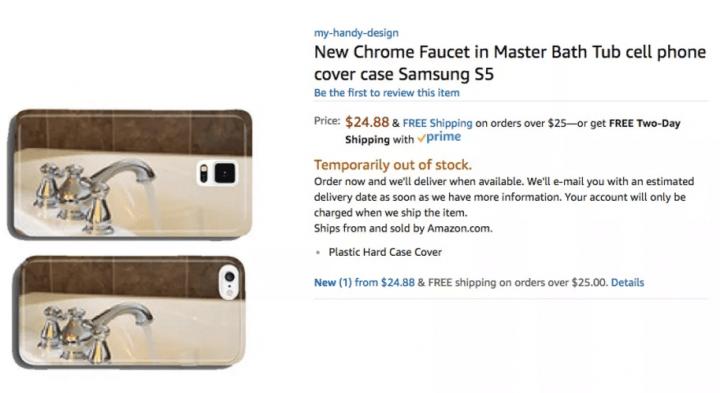 Imagen - Un bot de Amazon está creando y vendiendo fundas muy raras para smartphones