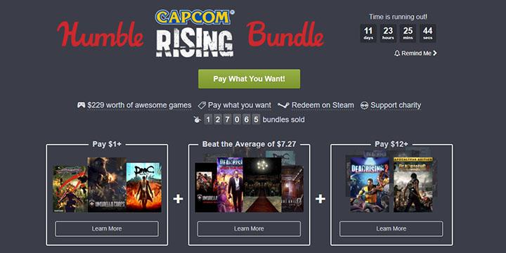 Humble Bundle nos ofrece grandes videojuegos de Capcom con descuentos enormes
