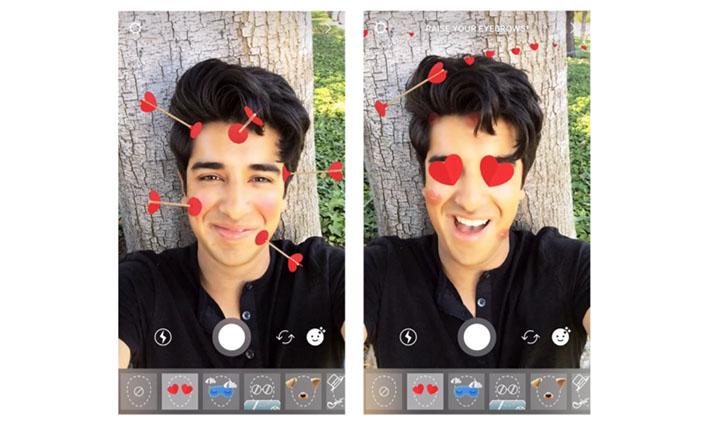 Imagen - Instagram Stories añade un filtro de corazones y flechas