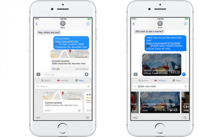 Imagen - Gboard para iPhone incorpora dibujo a mano, Maps y YouTube