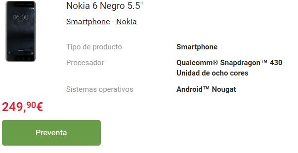Imagen - Nokia 3, 5 y 6: precios y disponibilidad en España