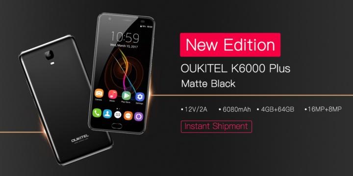 Imagen - Oukitel K6000 Plus llega en negro mate, y con una actualización de software