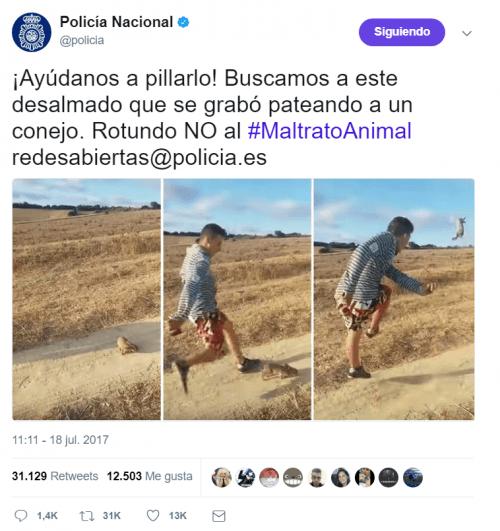 Imagen - Forocoches colabora con la Policía para localizar a un chico que da una patada a un conejo