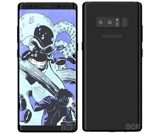 Imagen - Samsung Galaxy Note 8 se muestra al completo en nuevas imágenes oficiales