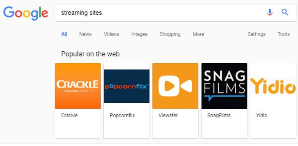 Imagen - Google ya no destaca sitios torrents sino de streaming legal