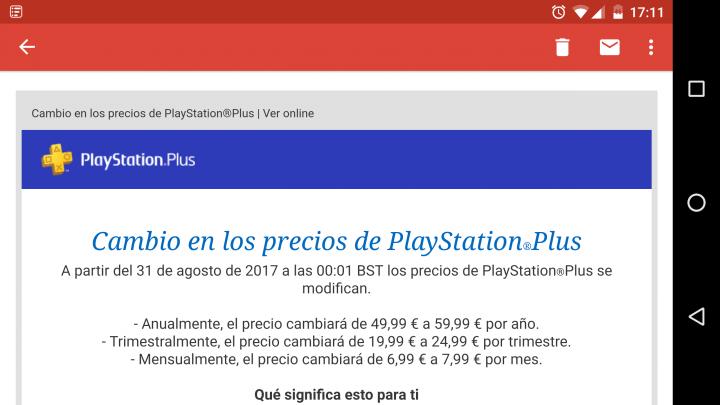 Imagen - PlayStation Plus sube el precio