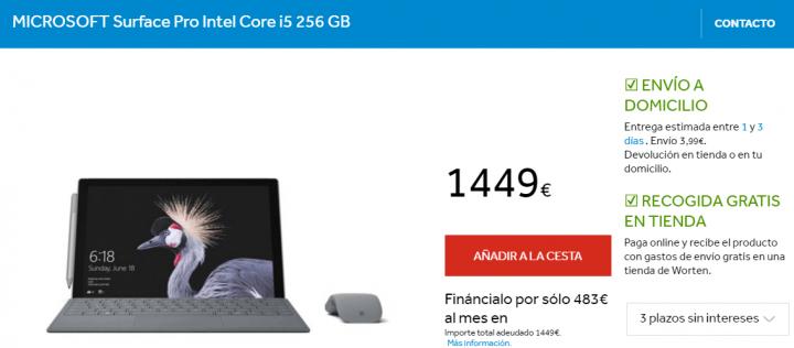 Imagen - 6 tiendas dónde comprar la Surface Pro
