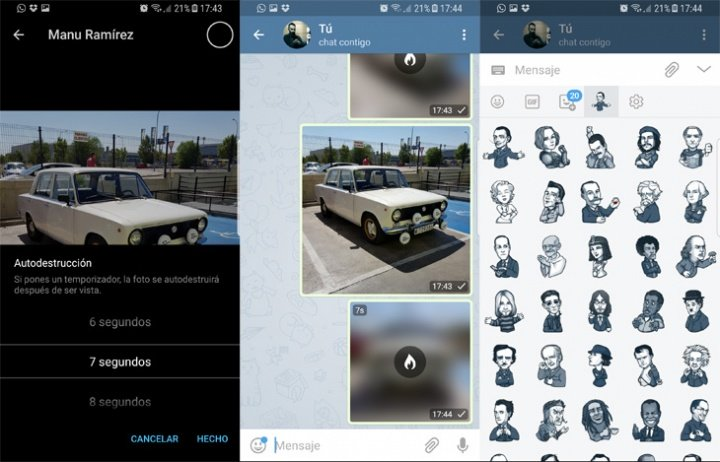 Imagen - Telegram 4.2 trae el envío de fotos y vídeos con autodestrucción y más