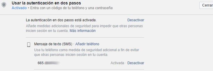 Imagen - Activa la verificación en dos pasos en Facebook