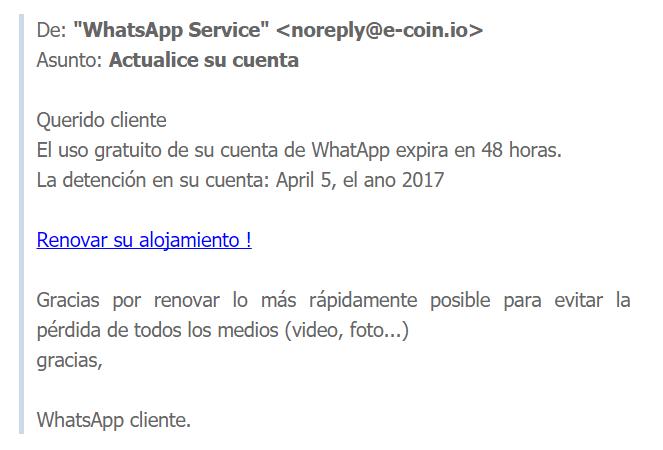 Imagen - Cuidado con el bulo de que tu cuenta de WhatsApp expira