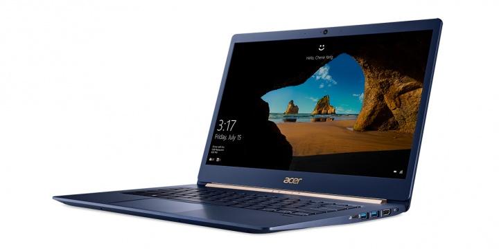 Acer Swift 5, un ultraportátil superligero con la octava generación de procesadores Intel