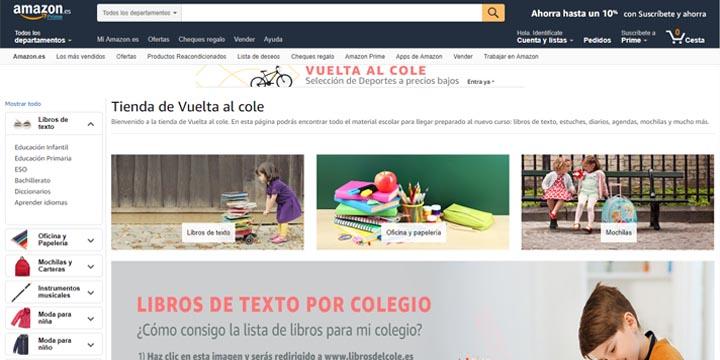 Imagen - Vuelta al cole en Amazon: compra libros de texto y material escolar online