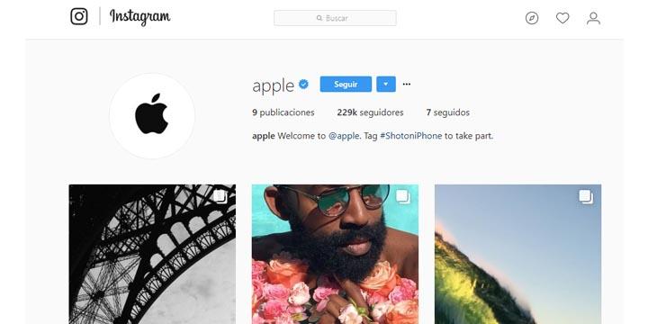 Apple estrena cuenta en Instagram