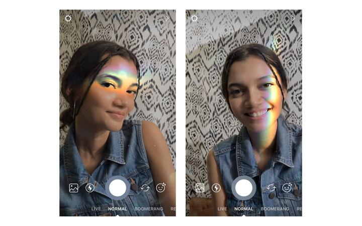 Imagen - Instagram añade nuevas máscaras: un arcoíris y diferentes accesorios