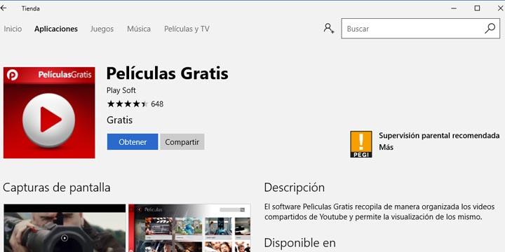 Imagen - La Tienda de Windows se llena de apps de streaming pirata