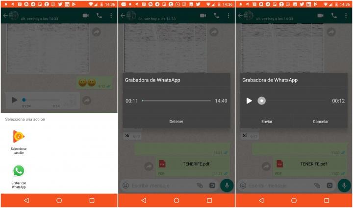 Imagen - WhatsApp ya permite grabar audio sin dejar pulsada la pantalla