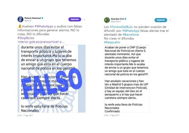 Imagen - La Policía alerta sobre bulos en WhatsApp del atentado en Barcelona