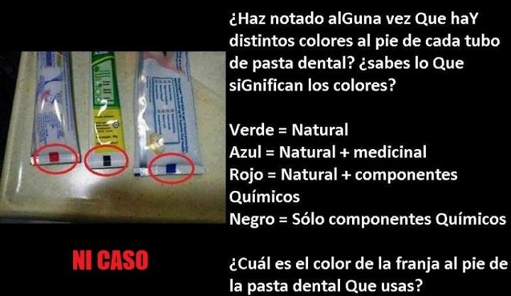 Imagen - La policía advierte sobre el bulo de los colores en los tubos de pasta dental