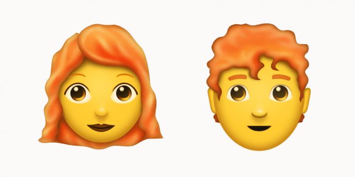 Estos son los emojis pelirrojos que llegarán a WhatsApp