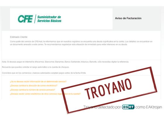 Imagen - Cuidado con los correos de facturas falsas pendientes de pago, pueden contener troyanos