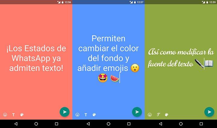 Imagen - Llegan los Estados de WhatsApp con texto sobre un fondo de color