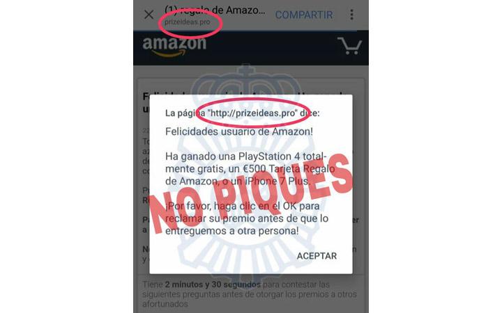 Imagen - Cuidado con el supuesto regalo de una PlayStation 4, 500 euros para Amazon y un iPhone 7