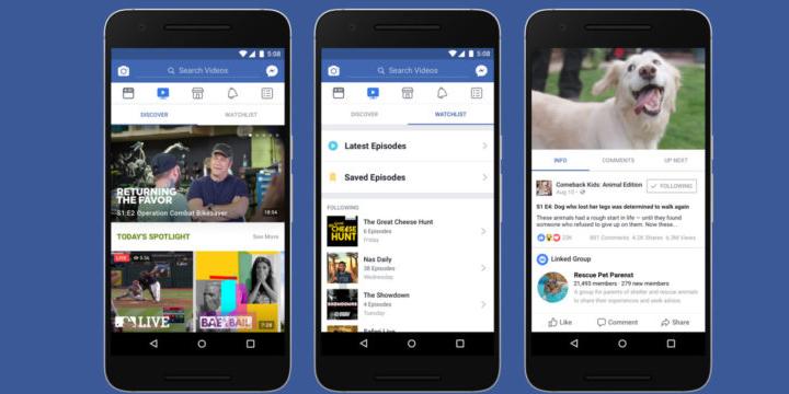 Imagen - Facebook Watch, la plataforma de vídeos para competir con YouTube