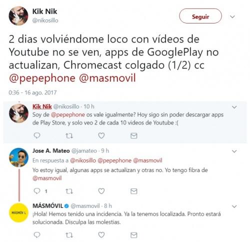 Imagen - Un fallo en MásMóvil impide actualizar o descargar apps de Google Play