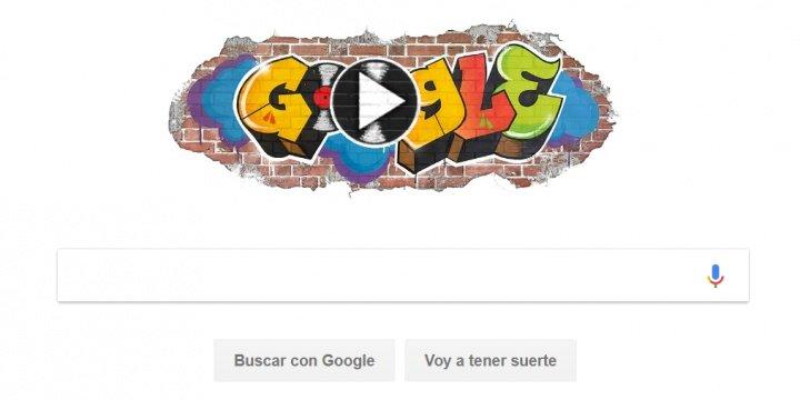 Google dedica un Doodle musical al 44 aniversario del hip-hop