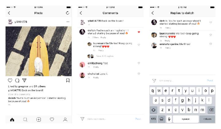 Imagen - Instagram incorpora comentarios anidados