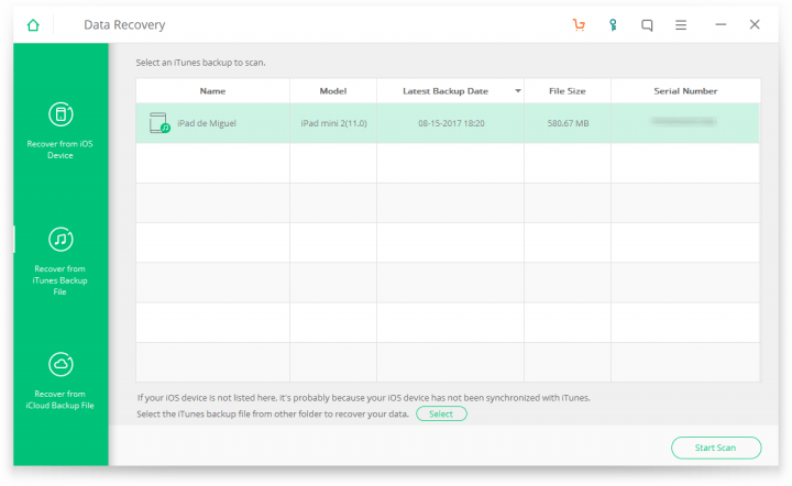 Imagen - Review: iSkysoft Toolbox - iOS Data Recovery, una herramienta para recuperar datos en iOS