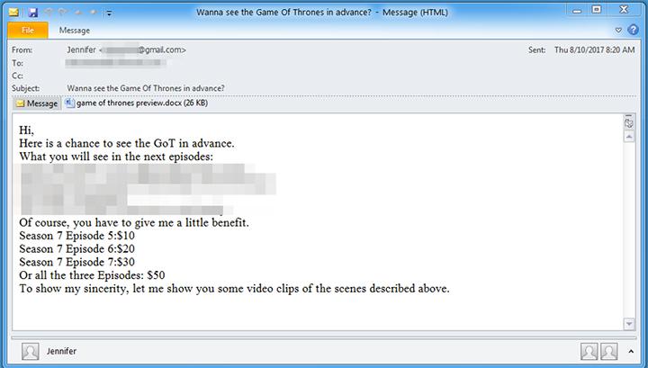 Imagen - Cuidado con las falsas filtraciones de Juego de Tronos, pueden contener malware