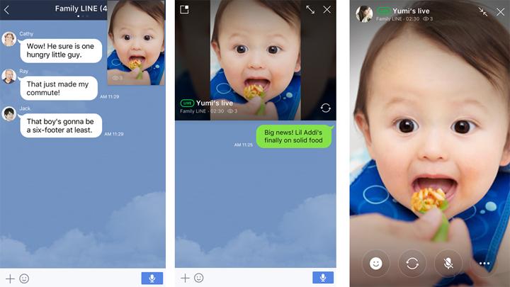 Imagen - Line añade directos a los grupos, ¿y WhatsApp?
