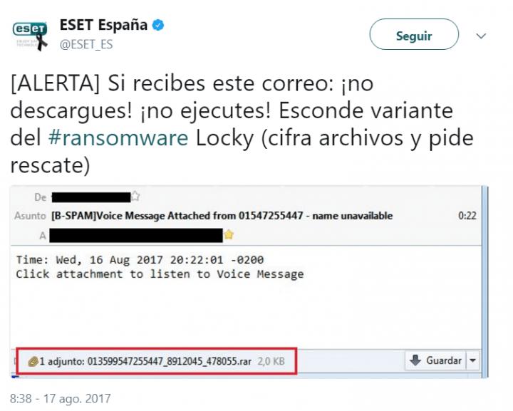 Imagen - Cuidado con abrir el correo que programa el ransomware Locky