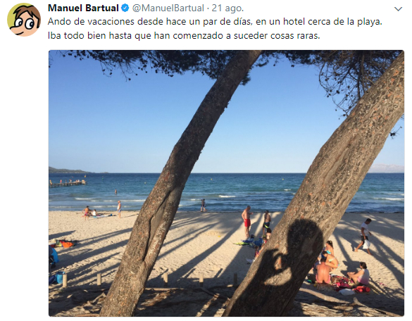 Imagen - Manuel Bartual, la historia viral de intriga en Twitter sobre sus vacaciones