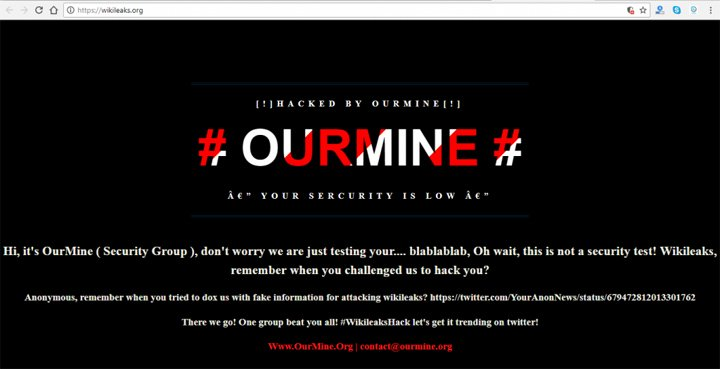 Imagen - Los hackers de HBO han hackeado la página web oficial de WikiLeaks