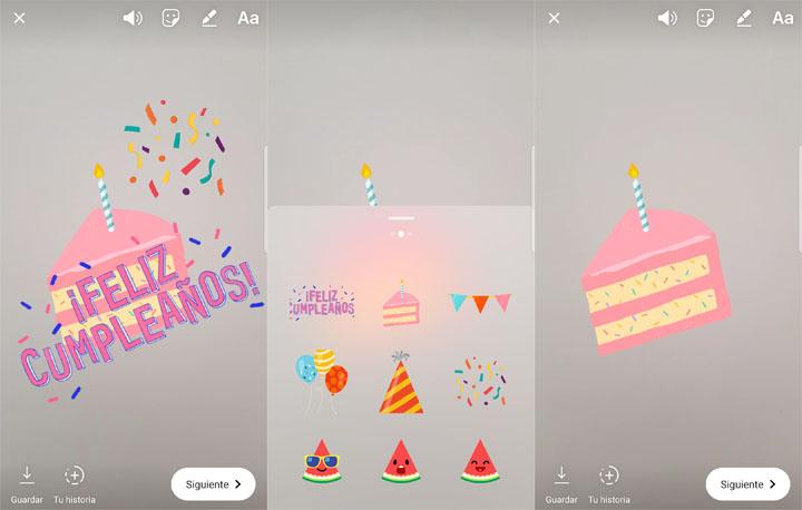 Imagen - Instagram añade nuevas pegatinas para felicitar cumpleaños