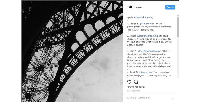 Imagen - Apple estrena cuenta en Instagram