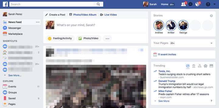 Imagen - Facebook Historias podría llegar al ordenador