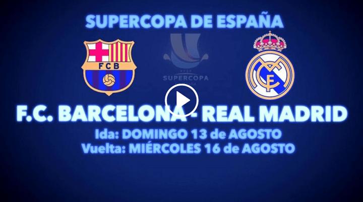 Imagen - Cómo ver online la ida de la Supercopa de España 2017 entre Barcelona vs Real Madrid