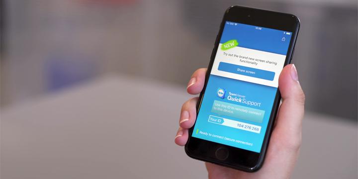 TeamViewer permitirá compartir pantalla desde iPhone y iPad