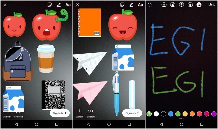 Imagen - Vuelta al cole en Instagram: textos en tiza y stickers de mochila, libreta y lápiz