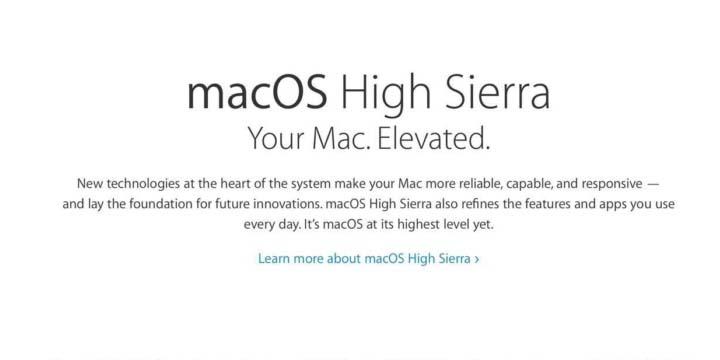 Imagen - macOS High Sierra: todo lo que debes saber antes de actualizar