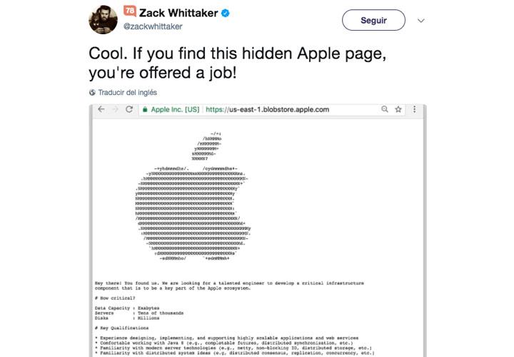 Imagen - Apple publica una oferta de empleo en la Deep Web