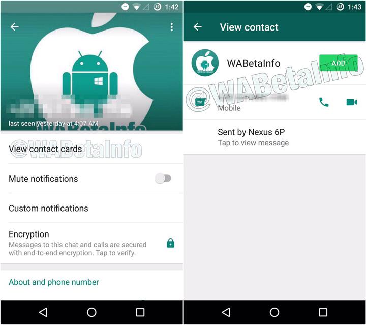 Imagen - WhatsApp añade más información en las tarjetas de números desconocidos