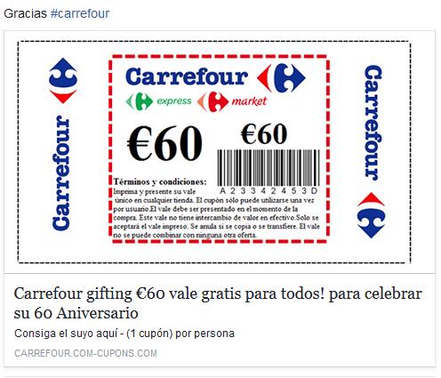 Imagen - ¡Cuidado! Carrefour no está regalando vales de 60 euros