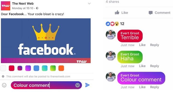 Imagen - Facebook ya permite publicar comentarios de colores