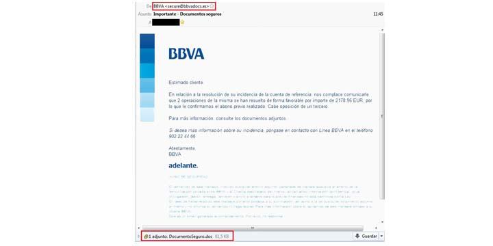 Imagen - Cuidado con los correos dirigidos a clientes de BBVA