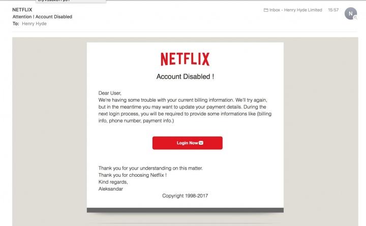 Imagen - ¿Has recibido un correo de Netflix? Cuidado porque puede ser una estafa